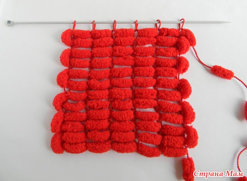 Вязание из пряжи с помпонами спицами 90