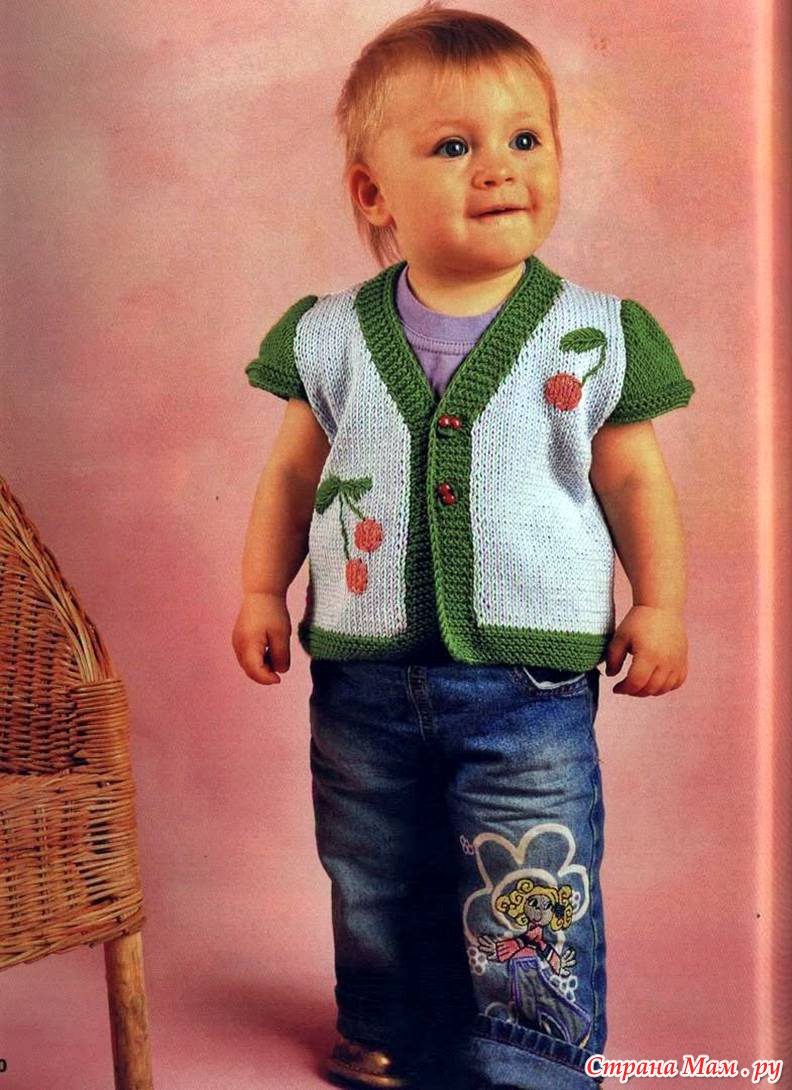 Вязание желетки мальчику