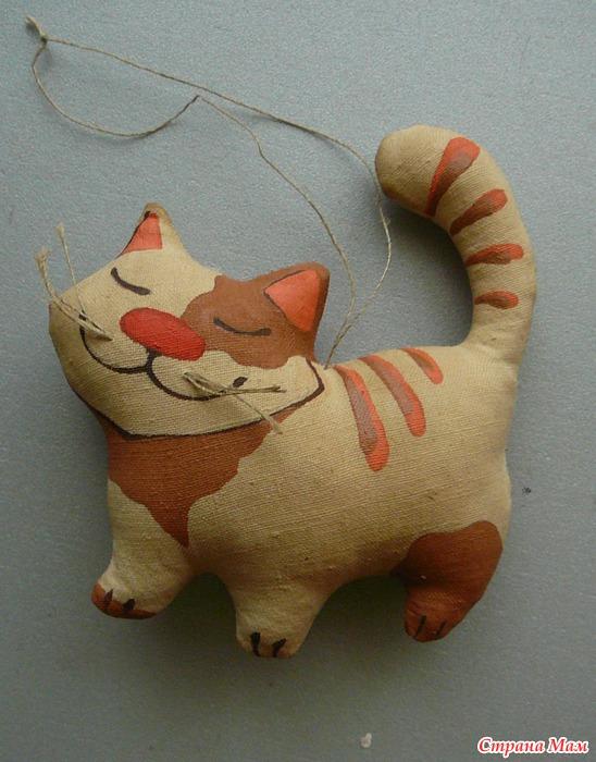 Коты из ткани как сделать