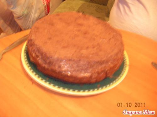 Ну о о о чень шоколадный торт!