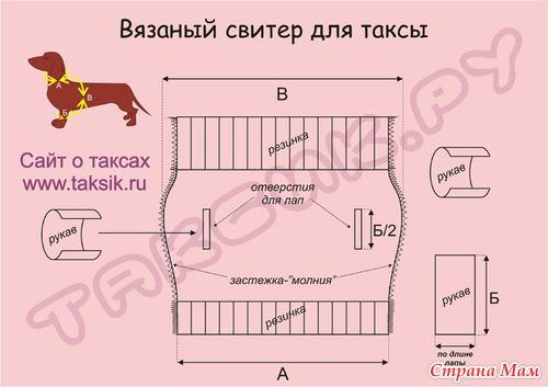 Вязание для таксы