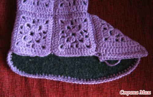 МК вязание сапог