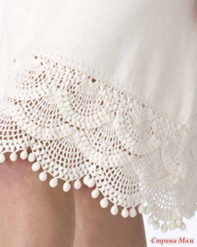Обвязка крючком подол платья схемы