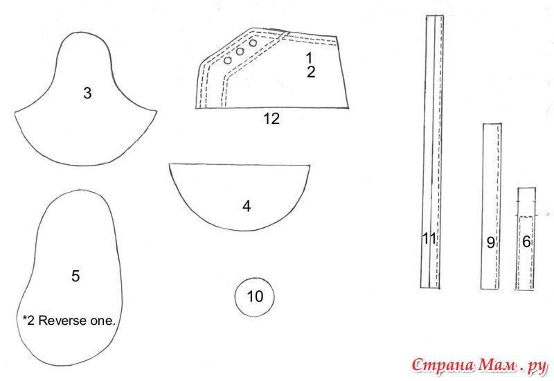 Выкройка ботиночек для торта из мастики