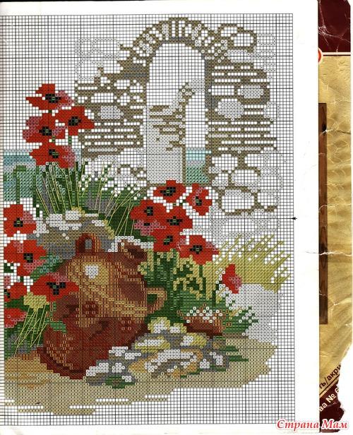 Популярные схемы вышивки - Вышивка крестом 52