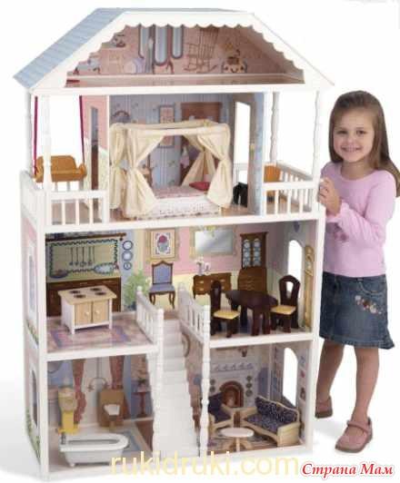 Как сделать дом для кукол для больших