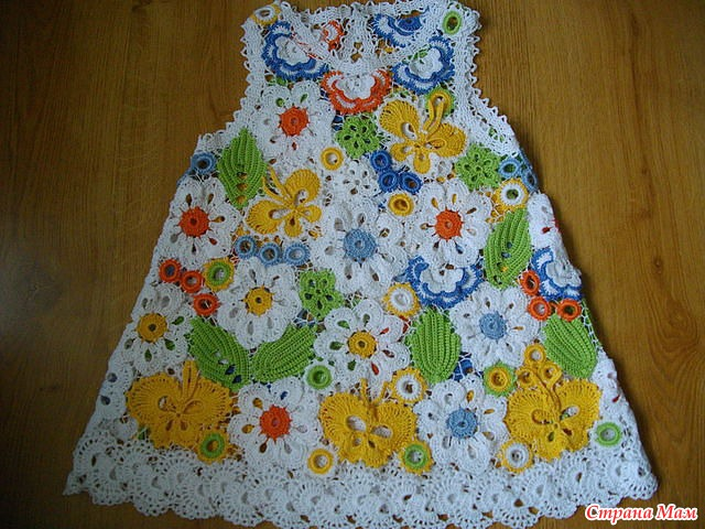 Ирландское вязание платья детские