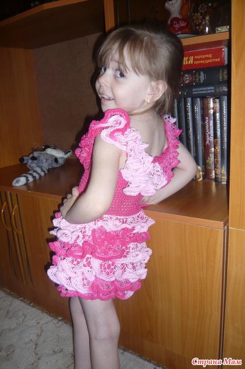 МК  платье для дочики «БЕЛОЕ ОБЛАЧКО!!!» Авторская работа - Натальи Букиной