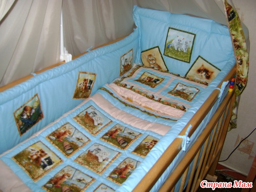Валик на кроватку своими руками