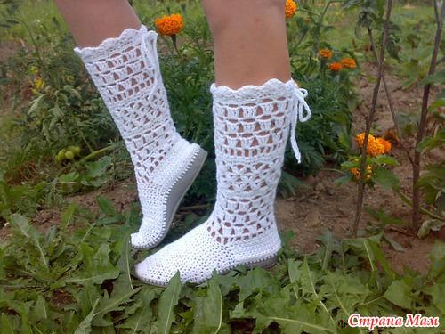 Вязаная обувь. как вы к ней