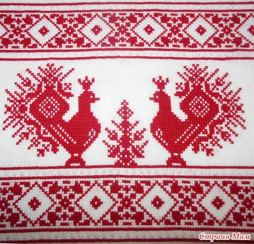 Рисунок вышивки рушник
