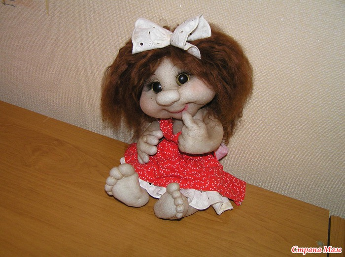 Кукла из капрона своими руками фото