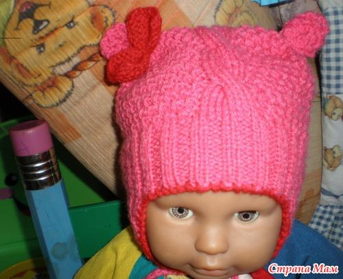 Вязание для маленьких шапочки 80