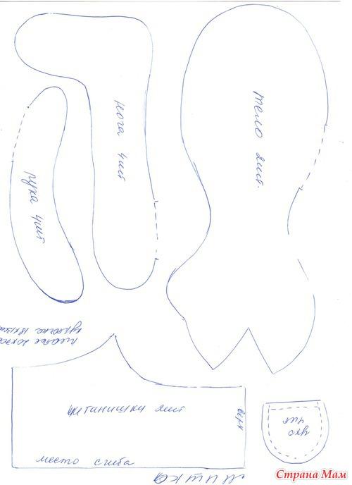 Совместный пошив тильды мишки малышки