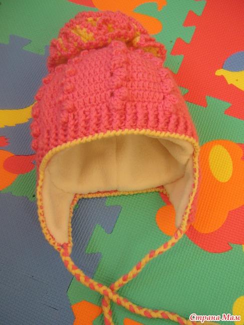 Вязаная чепчик для новорожденного своими руками фото 944