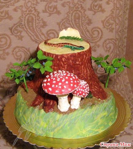 Торт с грибами фото