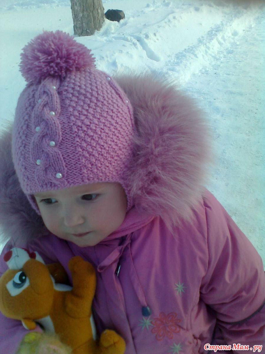 Вязание детской шапочки на девочек 633