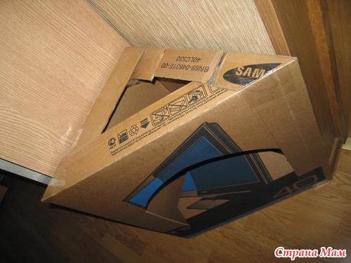 Как сделать угловой камин из коробок