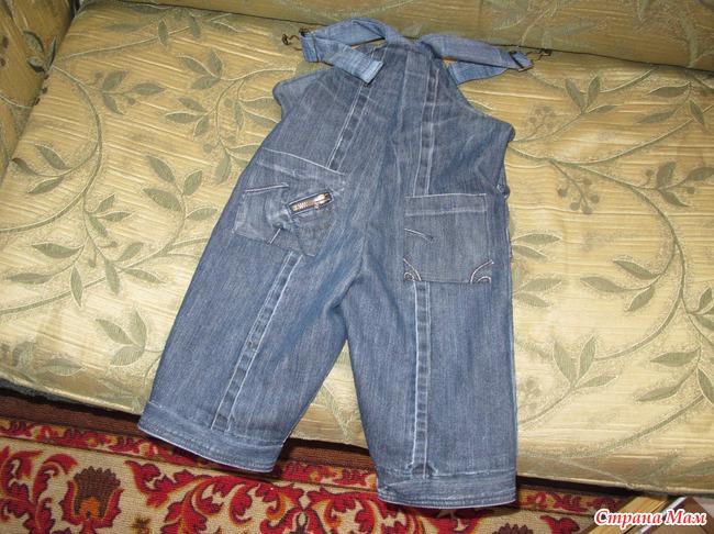 Как сшить комбинезон для ребенка из старых джинсов своими руками 95