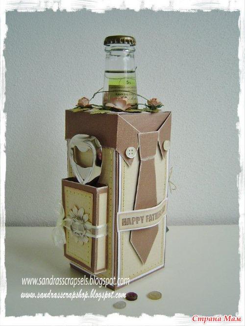 Коробочки для бутылки своими руками 848