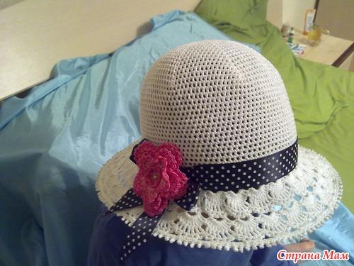Вяжем белую шапочку с розой на лето!!! Присоединяйтесь!