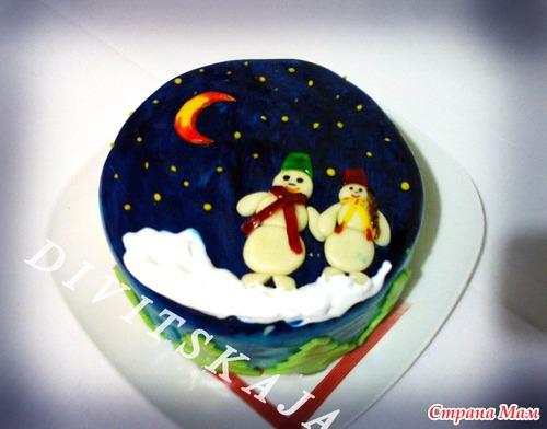 Фото тортов к рождеству