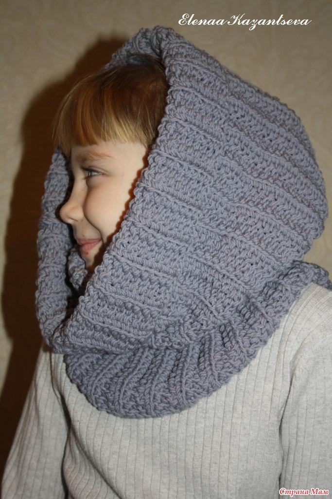 Вязаная шапка и шарф со