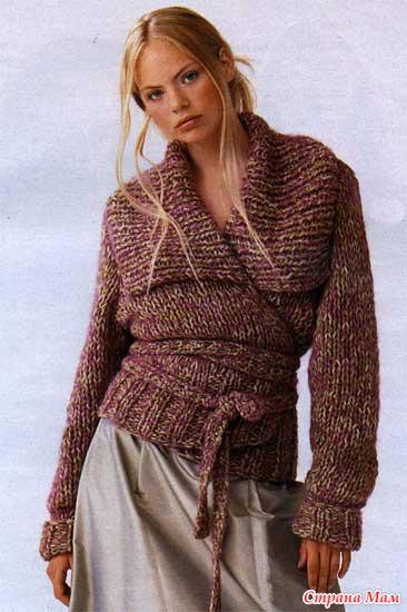 Вязаное платье с запахом
