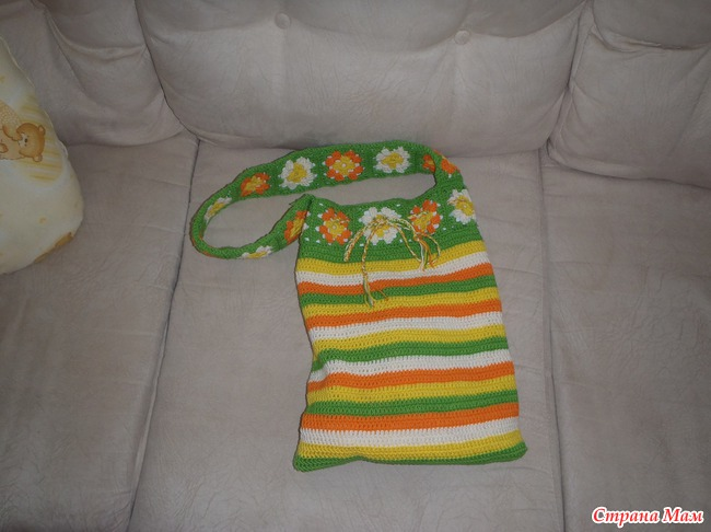 Вязание сумочки для девочки
