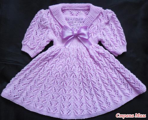 Платья вязаные для детей