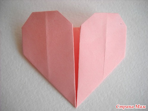 Сердце оригами готово