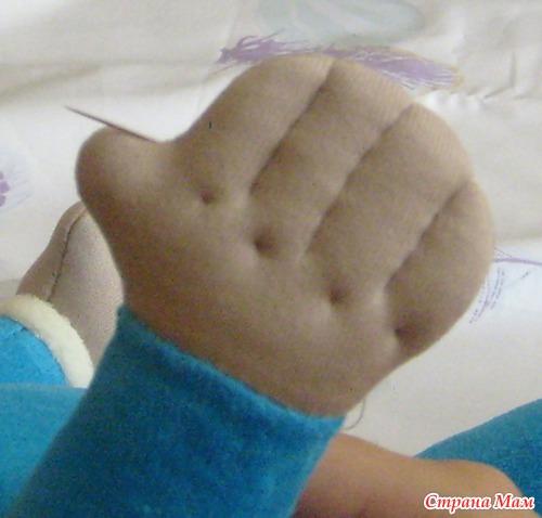 Как сшить руку с пальцами 105