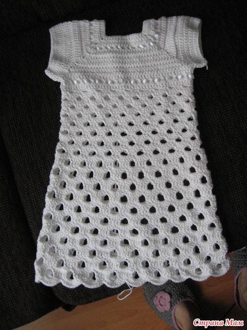 Крестильная рубашка крючком своими руками