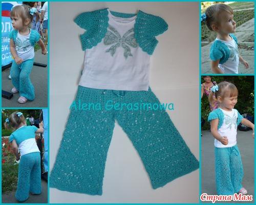 Вязание для девочек штанов