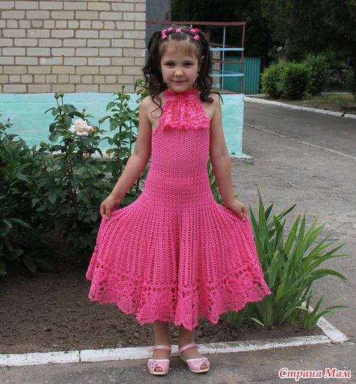 Вязание крючком платья на выпускной в детском саду 46