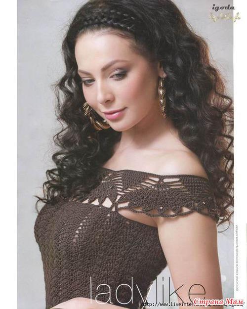Самое красивое платье вязание крючком