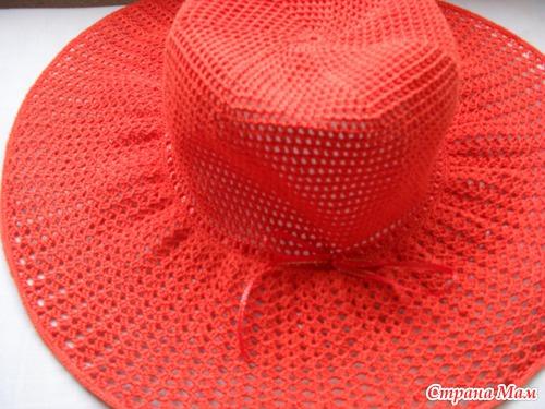 Как связать пляжную шляпу