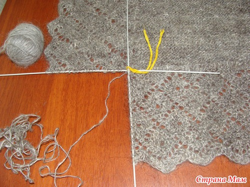 Из чего вяжут пуховую шаль