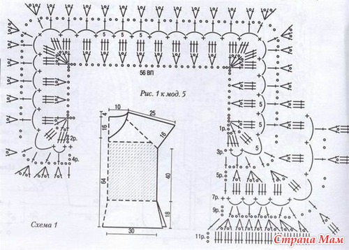 Вязание реглана спицами и крючком. Схемы.