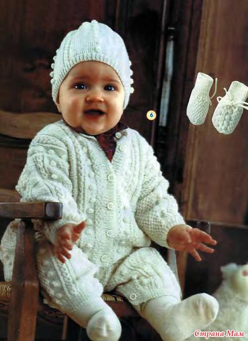 Варежки и шапочка для малыша