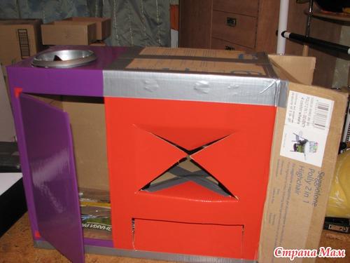 Делаем камин из коробки от телевизора своими руками: пошаговая инструкция 78