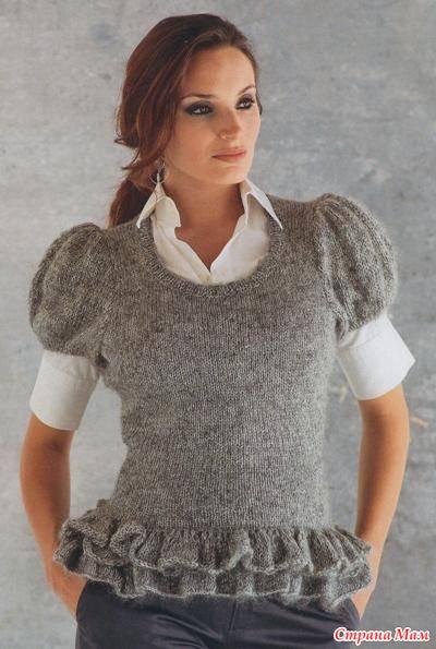 вязание спицами шапка женская