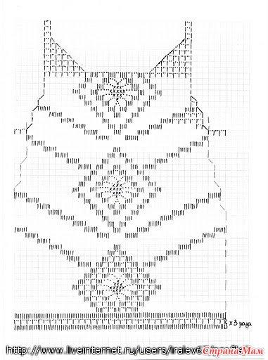 Крючок меняла с 2 на 3. Низ 3... в районе талии перешла на 2. Размер 44.  Схемки для вязания такие.