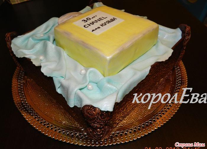 Приветствую Вас мои дорогие))) Сегодня на ваш суд тортик для девушки, которая занимается продажей духов и др...