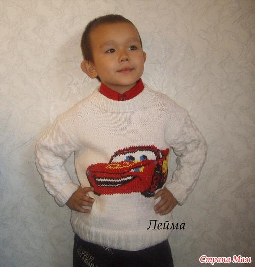 Как связать свитер ребенку спицами