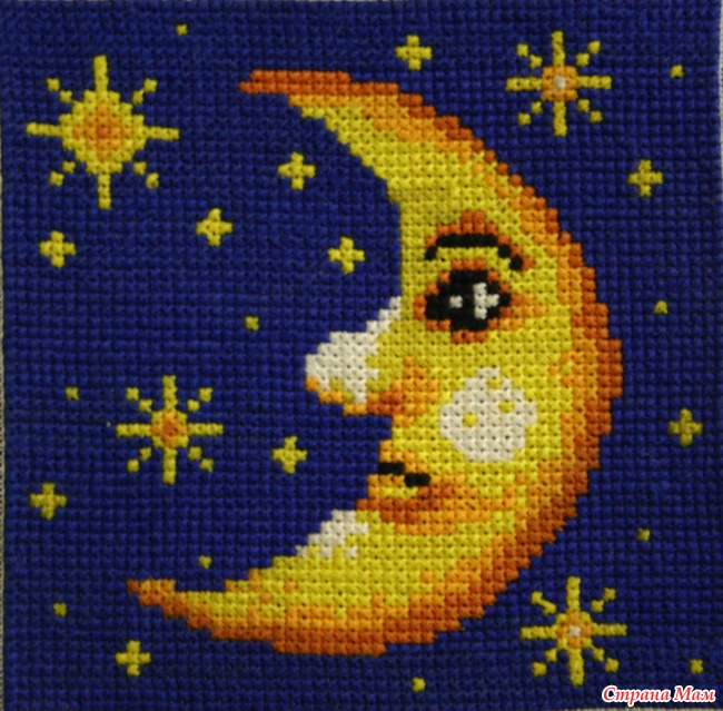 Значение луна в вышивке