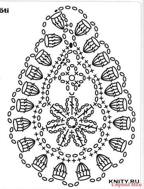 Пейсли, Индийский боб, турецкий огурец(крючком) .