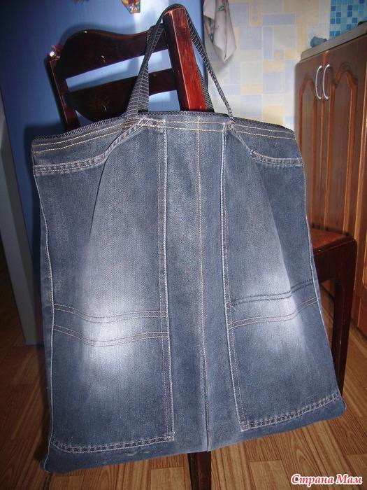 Сумка мешок из джинс своими руками 830