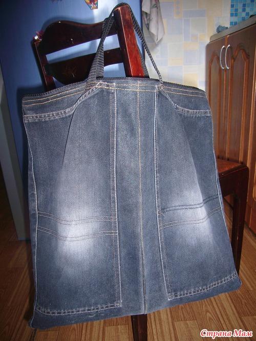 Как сшить сумку из старых джинсов фото