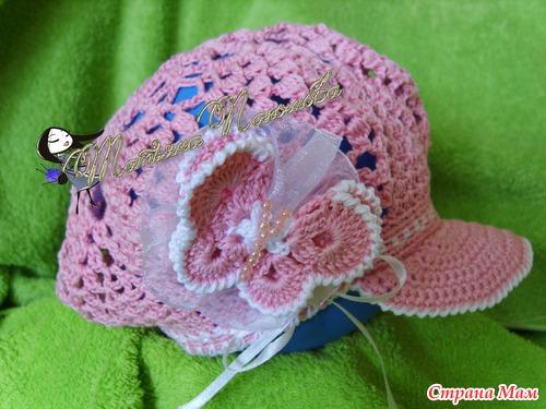 Бейсболка Орхидея крючком для девочки - Вязание для 4